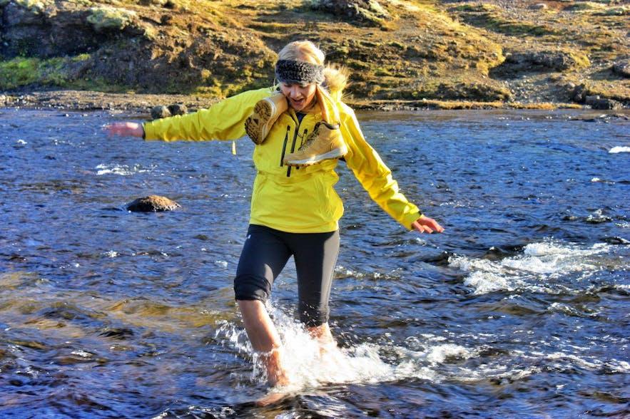 Hiking Glymur Waterfall Iceland