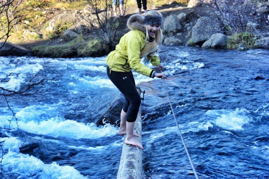 Hiking Glymur Iceland