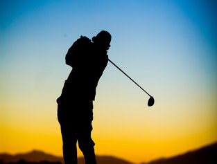 Golf day in Akureyri Iceland