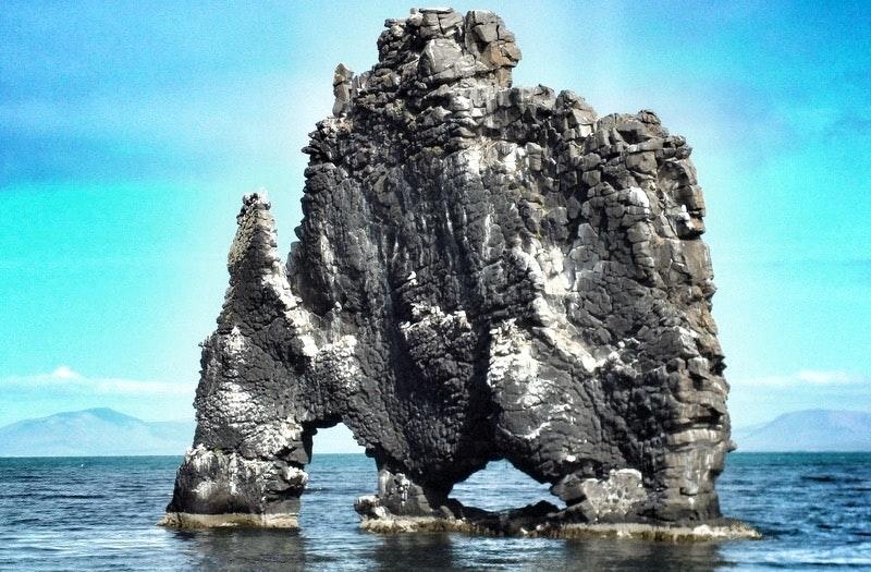 Hvítserkur Rock Formation - The Troll of North-West Iceland - an Icelandic Folklore