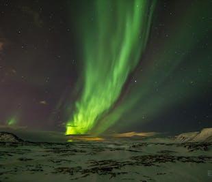 Preciosa excursión en autobús para ver la aurora boreal
