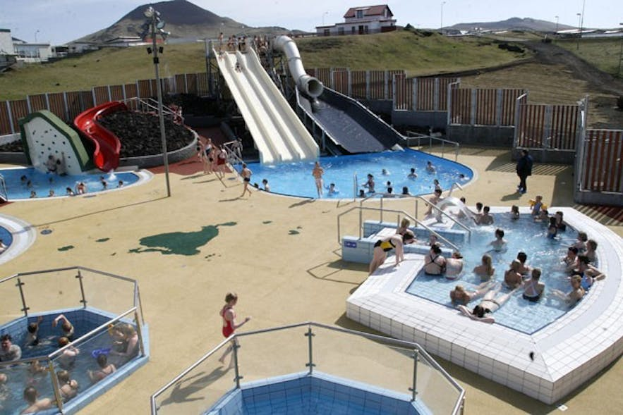 Westman Islands swimming pool outside area