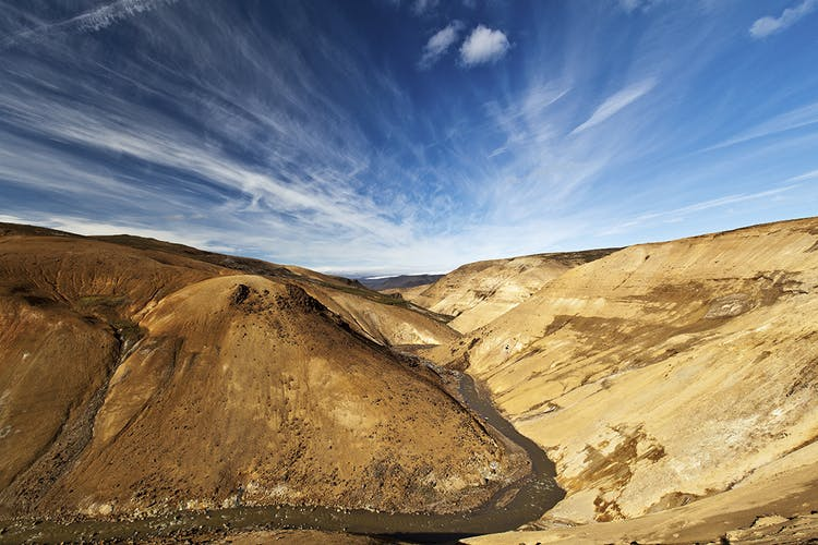 The central highlands have rhyolite mountains and hot spring areas, just like Landmannalaugar.