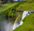 There is a viewing platform at the top of Skógafoss waterfall.