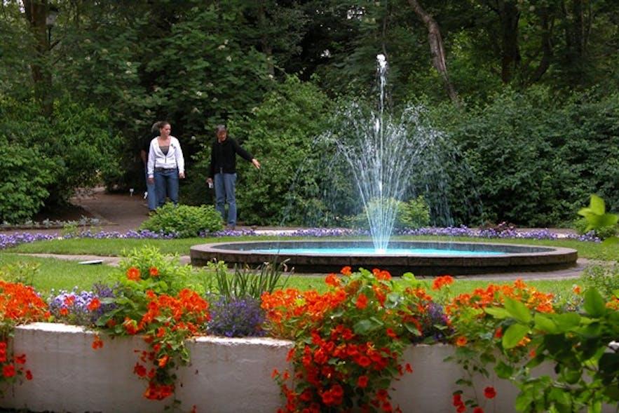 アークレイリの町の植物園