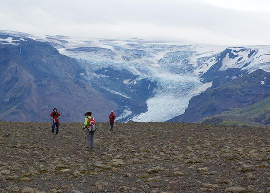美しい氷河の風景