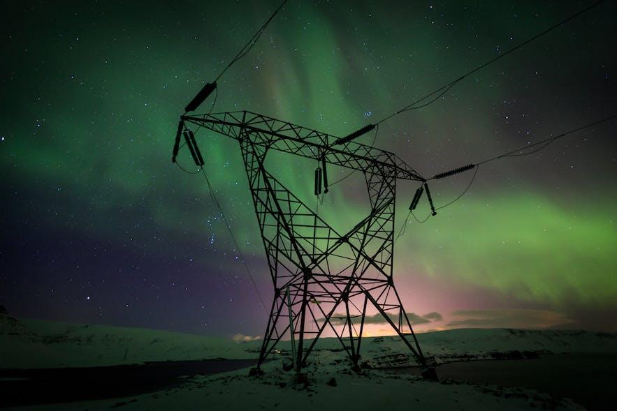 The Northern Lights over Hvalfjorður