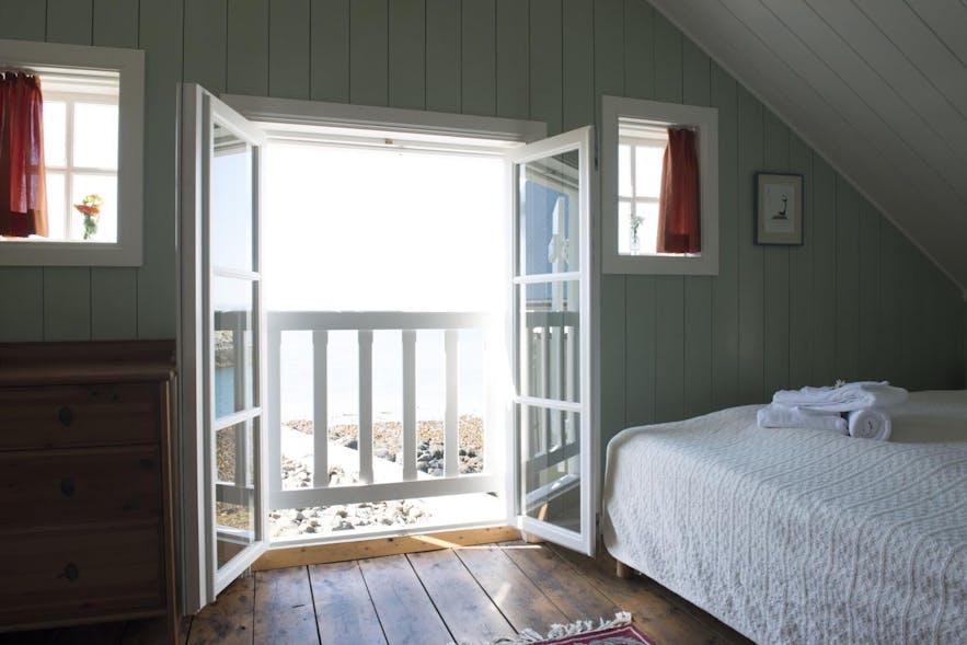 冰岛西部弗拉泰小岛的Hotel Flatey的房间