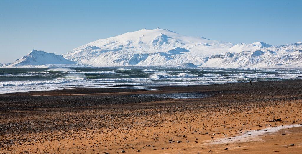 Snæfellsjökull volcano in Iceland