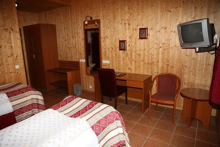 Old fashioned rooms at Katla Hotel in south Iceland