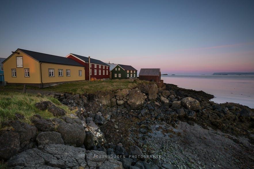 冰岛西部弗拉泰小岛的酒店Hótel Flatey外观和周边环境