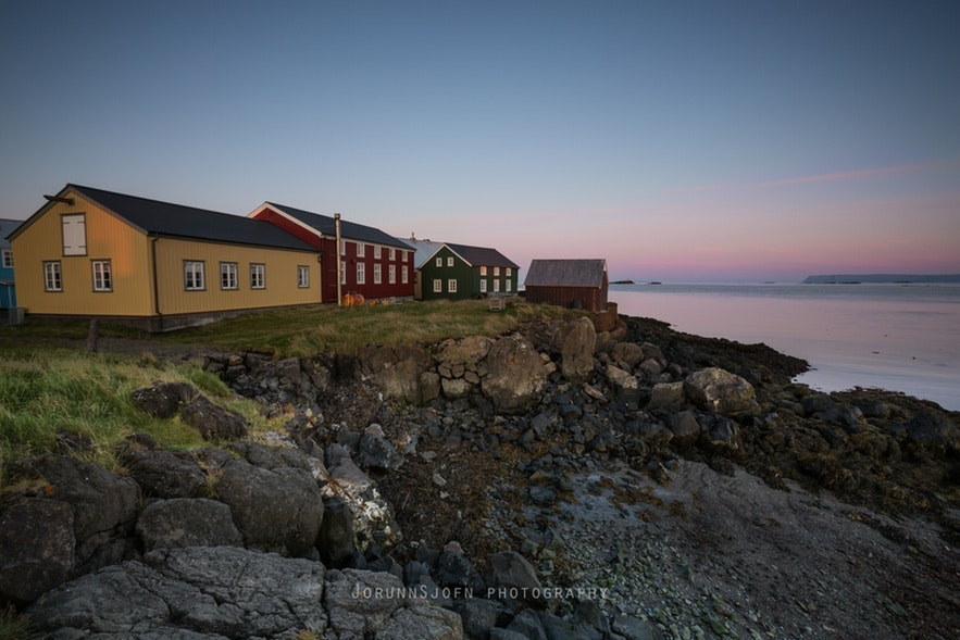 Hótel Flatey en Islande vu de l'extérieur