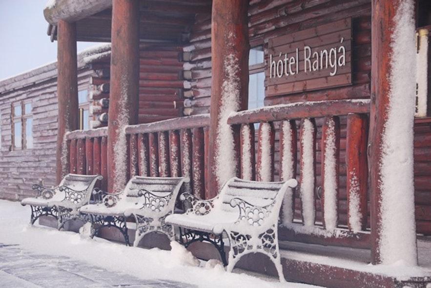 冰岛南岸Hótel Rangá冬季景色