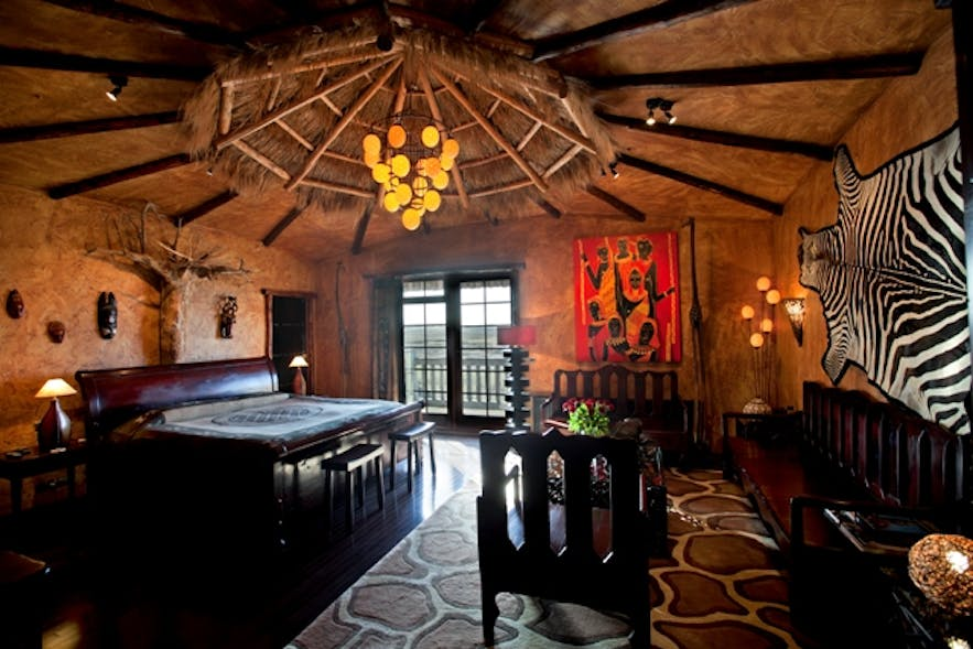 The African suite at Hotel Rangá in south Iceland