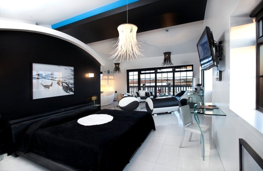 冰岛南岸豪华酒店Hotel Rangá的南极主题套房