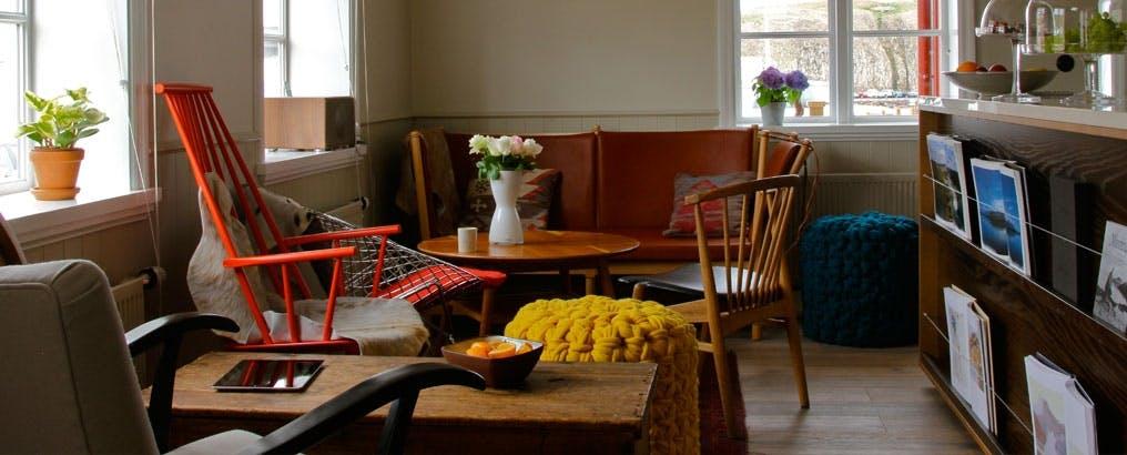 Hotel Egilsen's cosy lounge