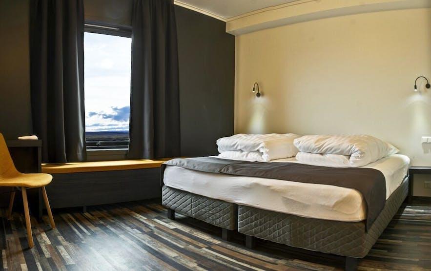 冰岛北部米湖附近的酒店Hotel Laxá的双人间