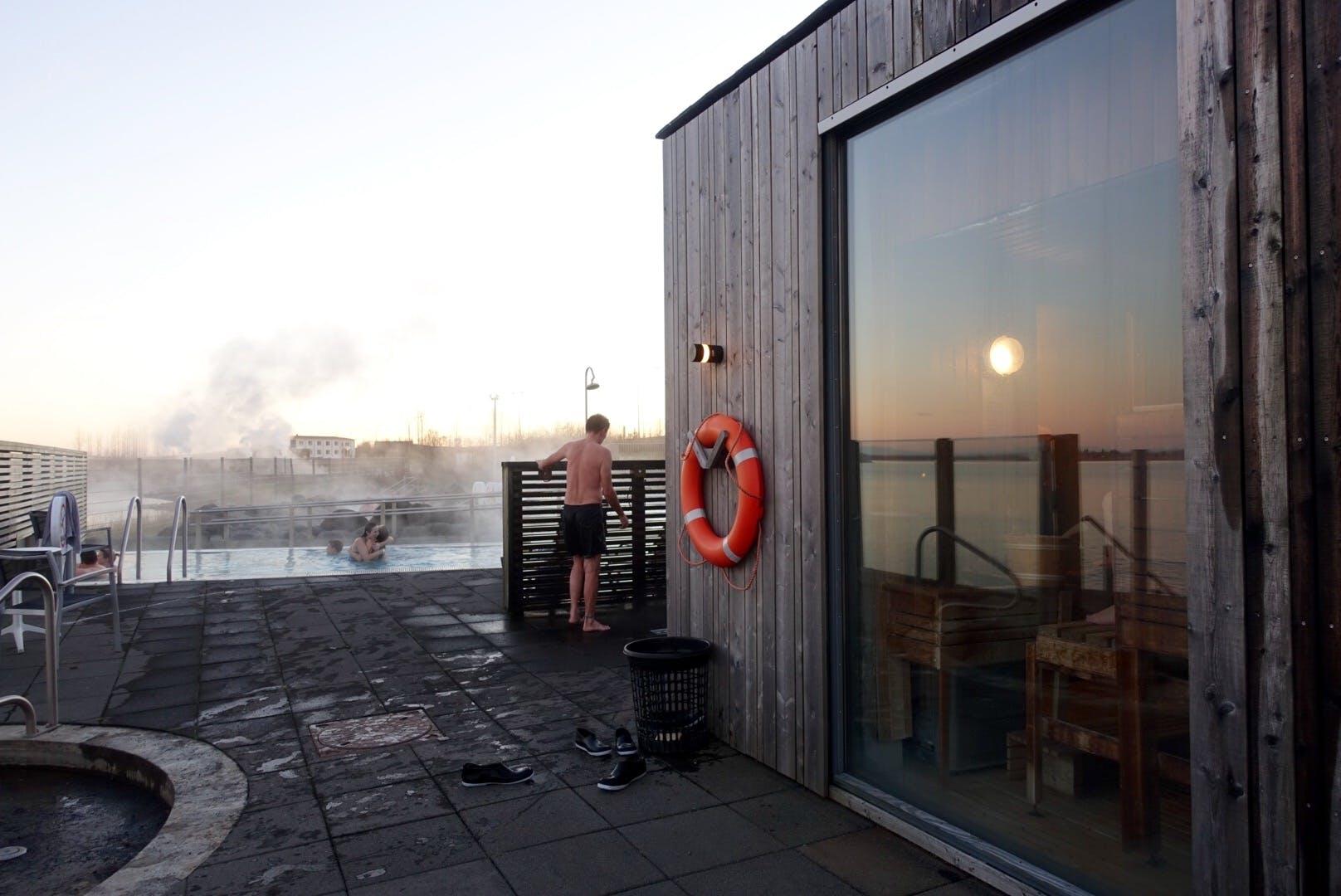 冰岛黄金圈沿线Fontana地热温泉桑拿间