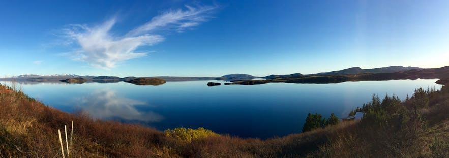 冰岛议会湖Þingvallavatn全景