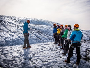Glacier hiking and Ice climbing | Only 4 persons on a tour | Easy difficulty