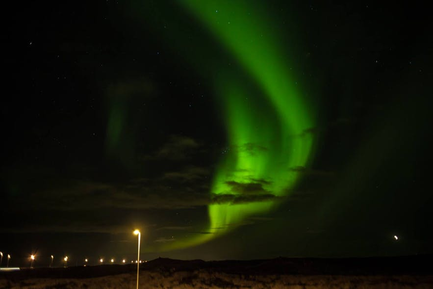 Nordlichter über Reykjanes