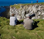 The Látrabjarg birdwatching cliffs are up to 440 metres tall.