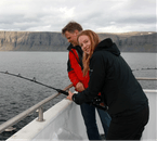 When fishing in the Westfjords, you'll be surrounded by beautiful flat-topped mountains.