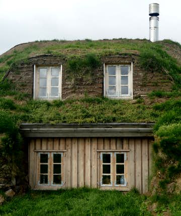 Sænautasel Turf House in the Highlands of Iceland