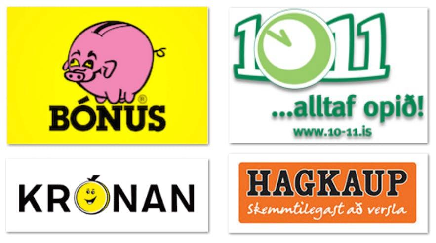 冰岛较为常见的连锁超市品牌