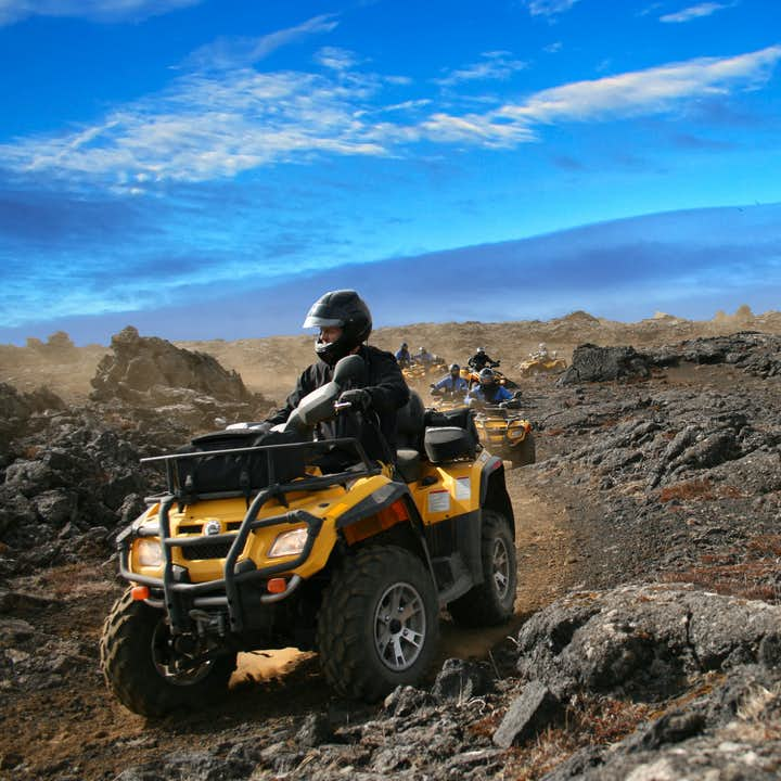 Even under the sun, and with the joy of an ATV ride, the Reykjanes Peninsula is still haunting.