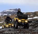 With overalls, a helmet and professional guide, ATV tours should be safe for responsible, qualified drivers.