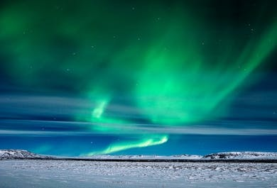 Northern lights, magical spectacle above us