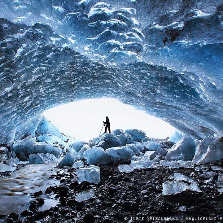 3-dags rundtur längs Gyllene cirkeln och sydkusten   Norrsken, isgrotta och glaciärvandring