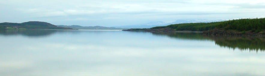 Lagarfljótsormurinn Serpent in Lagarfljót Lake in East-Iceland - Iceland's Loch Ness