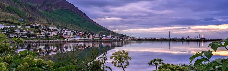 The beautiful Siglufjörður fjord