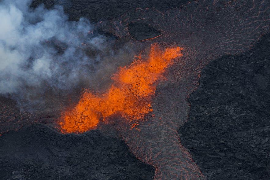 冰岛Holuhraun火山爆发