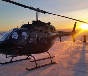 Reykjavik Helicopter Tour with Happy Hour on a Mountain Top