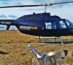 Luxury drinking doesn't come any more spectacular than after a mountain-top helicopter landing.