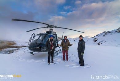 Hélicoptère entre feu et glace   Sortie depuis Reykjavik