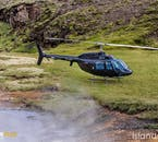 A helicopter tour means that you are mobile enough to land in otherwise inaccessible places.