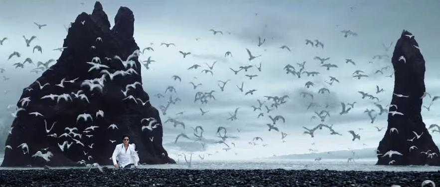 Shah Rukh Khan by Reynisdrangar in Iceland