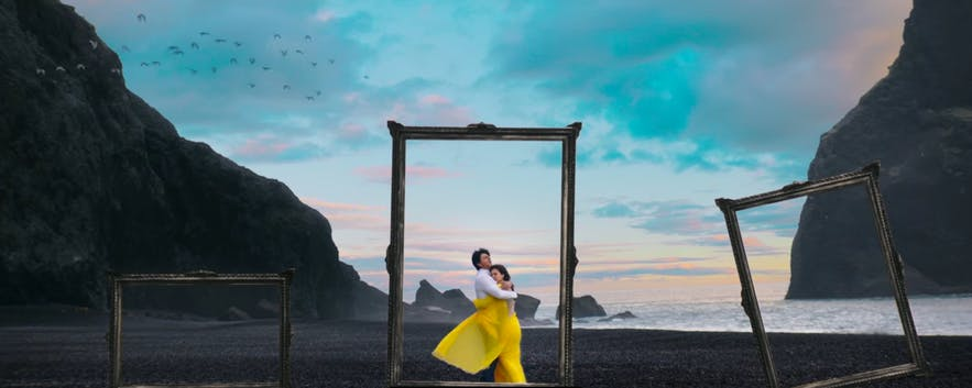Framed shot from Dilwale in Iceland