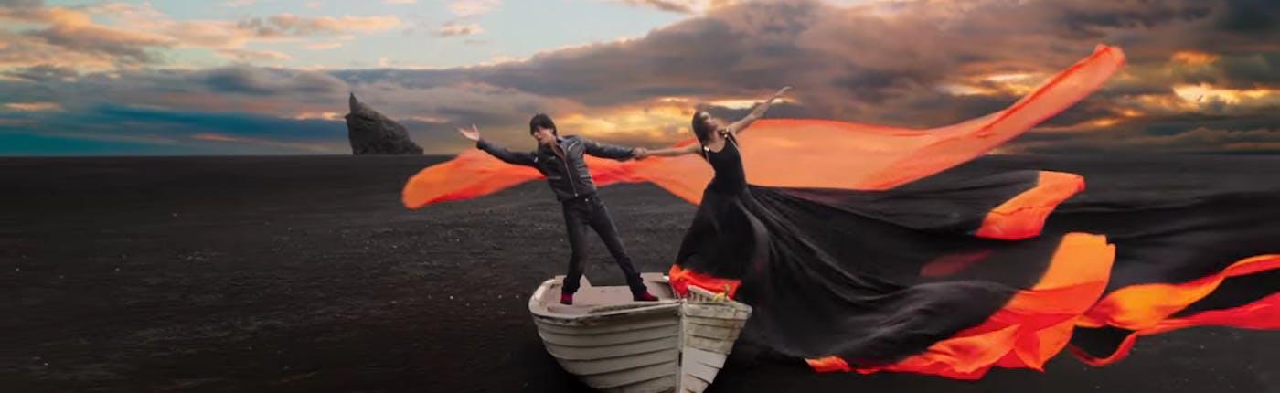 Shah Rukh Khan and Kajol in Iceland
