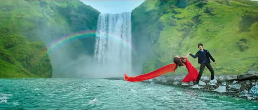 Dilwale filmed by Skógafoss in Iceland
