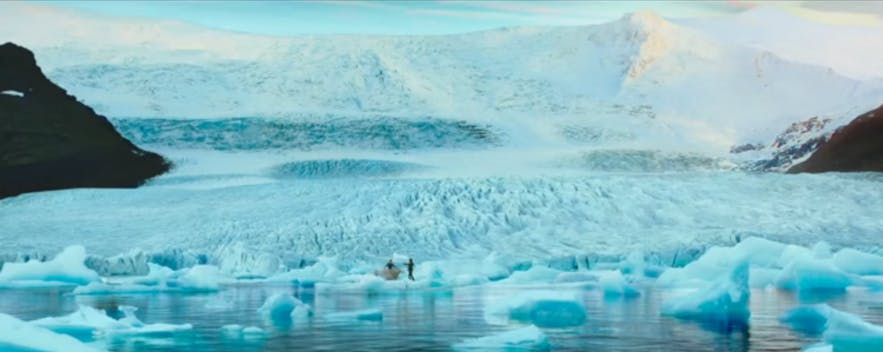 Icy landscape in Dilwale in Iceland