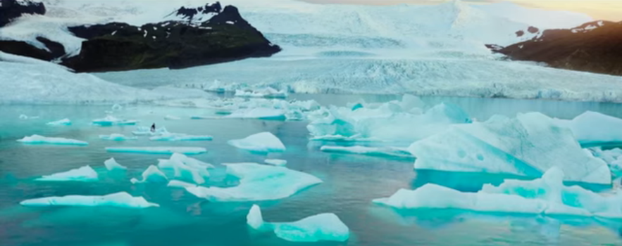 Dilwale ice lagoon in Iceland
