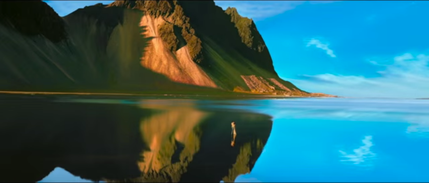 Dilwale mirror mountain in Iceland