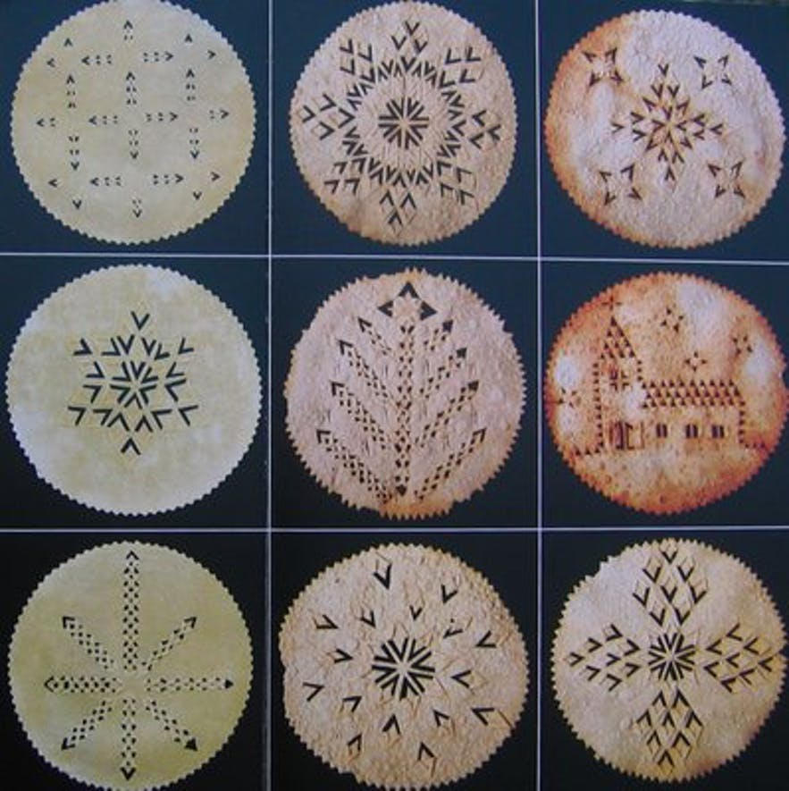 Icelandic Christmas Laufabrauð patterns