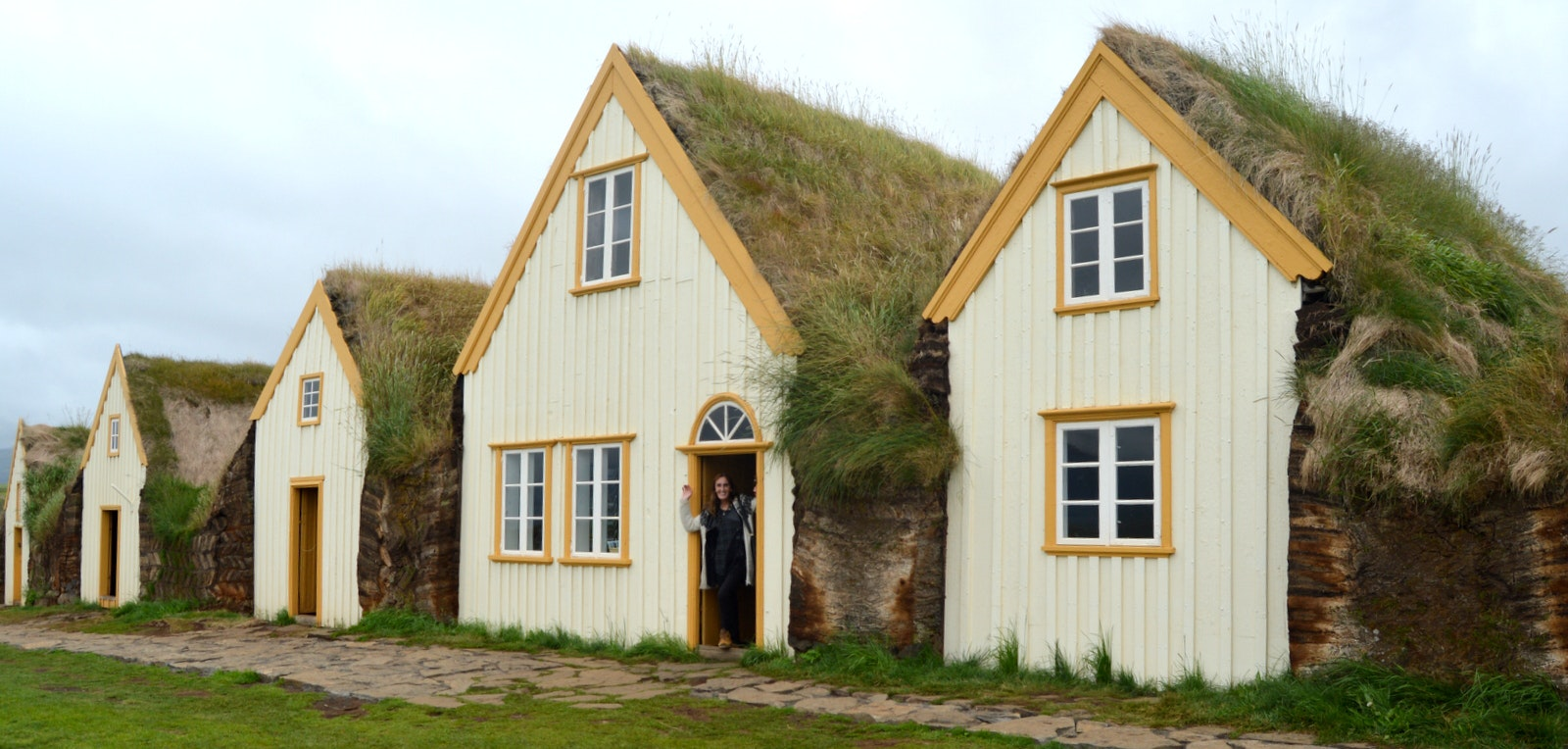 The historical Glaumbær Turf House in North-Iceland
