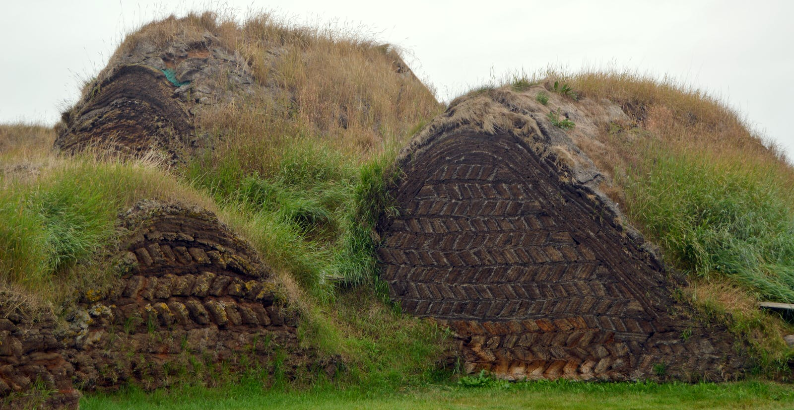Glaumbær turf house in North-Iceland